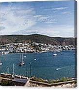 View Of A Harbor From A Castle, St Canvas Print