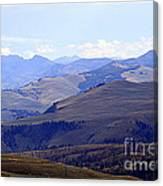 View Of Absaroka Mountains From Mount Washburn In Yellowstone National Park Canvas Print