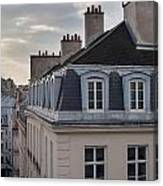 View Of Apartments On Rue Beauregard Canvas Print