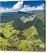 View Of Arthur Range In Kahurangi Np Of New Zealand Canvas Print