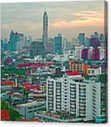 View Of Bangkok Near Dusk From Grand China Princess Hotel In Bangkok-thailand Canvas Print