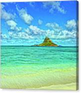 View Of Chinaman's Hat Canvas Print