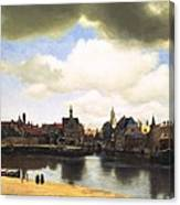 View Of Delft Vermeer Canvas Print
