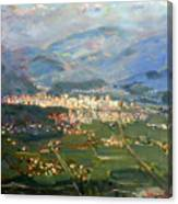 View Of Elbasan City Canvas Print