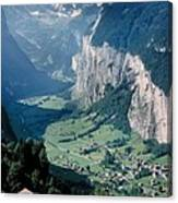 Amazing View Of Swiss Valley Canvas Print