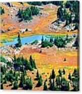 View Of Lake Canvas Print