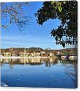 View Of Lambertville Nj From New Hope Pa-winter 1  Canvas Print