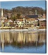 View Of Lambertville Nj From New Hope Pa-winter 2  Canvas Print