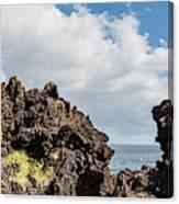 View Of Lava Rock On The Coast, Pico Canvas Print