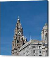 View Of Liverpool Waterfront Canvas Print