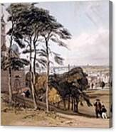 View Of London From Greenwich Park, 1842 Canvas Print
