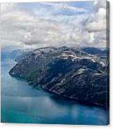 View Of Lysefjord From Preikestolen Canvas Print