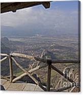 View Of Meteora From The Monastery   #9722 Canvas Print