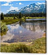 View Of Mount Tallac From Taylor Creek Beach Lake Tahoe Canvas Print