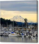 View Of Mt. Rainier From Gig Harbor Wa Canvas Print