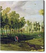 View Of Nonsuch Palace In The Time Canvas Print