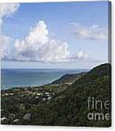 View Of Ocean And Punta Tuna In Puerto Rico Canvas Print