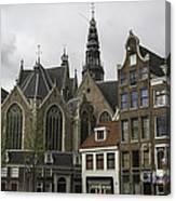 View Of Oude Kerk Amsterdam Canvas Print