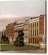 View Of Portman Square, North Side, 1816 Canvas Print