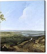 View Of Portsmouth From Portsdown Hill Canvas Print