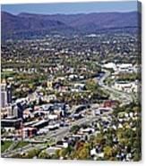 View Of Roanoke Va Canvas Print