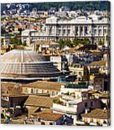 View Of Rome's Rooftops Canvas Print