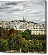 View Of Sacre Coeur From The Musee D'orsay Canvas Print