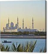 View Of Sheikh Zayed Grand Mosque Canvas Print