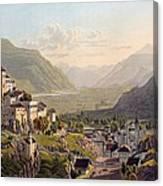 View Of Sion, Illustration From Voyage Canvas Print