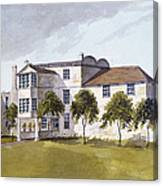 View Of Sir Noel De Carons House, 1809 Wc On Paper Canvas Print