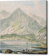 View Of Snowdon Wc On Paper Canvas Print