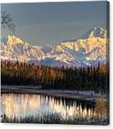 View Of Southside Mount Mckinley And Canvas Print