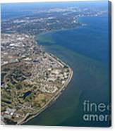 View Of Tampa Harbor Before Landing Canvas Print