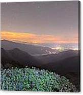 View Of The Appalachians From Craggy Pinnacle Near The Blue Ridg Canvas Print