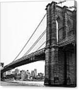 View Of The Brooklin Bridge Canvas Print