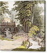 View Of The Cascade At Erlaw, Vienna Canvas Print
