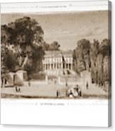 View Of The Castle, Paris And Surroundings Canvas Print