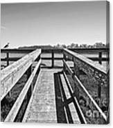 View Of The Elkhorn Slough From A Platform.  Canvas Print