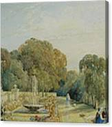 View Of The Gardens At Chatsworth Canvas Print