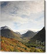 View Of The Glencoe Mountains Canvas Print
