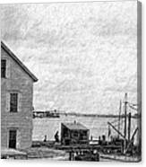 View Of The Harbor Canvas Print