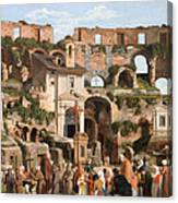 View Of The Interior Of The Colosseum Canvas Print