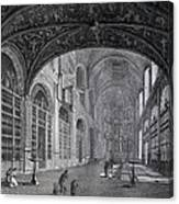 View Of The Interior Part Of The Church Canvas Print