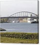 View Of The John Frost Bridge In Arnhem Netherlands Canvas Print