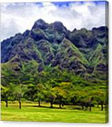View Of The Koolau Range Canvas Print