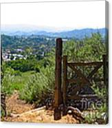 View Of The Ojai Valley Canvas Print