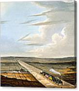 View Of The Railway Across Chat Moss Canvas Print
