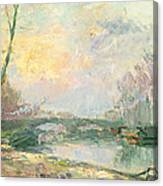 View Of The Seine Paris Canvas Print