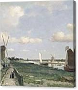 View Of The Trekvliet Canal Near The Canvas Print