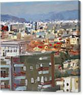 View Of Tirana From Dajti Mountain Canvas Print
